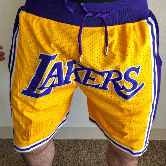 "9a246c53ffd Just Don ""LeBron Lakers"" Shorts 1996-97 Size Small"